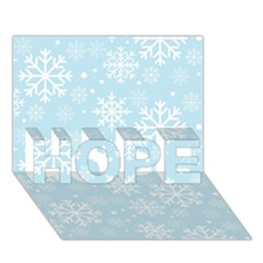 Frosty HOPE 3D Greeting Card (7x5)