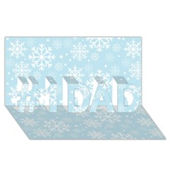 Frosty #1 DAD 3D Greeting Card (8x4)