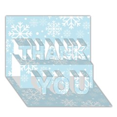 Frosty THANK YOU 3D Greeting Card (7x5)
