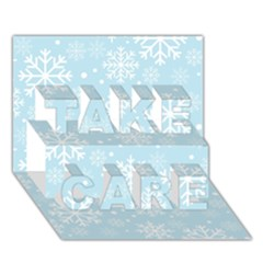 Frosty Take Care 3d Greeting Card (7x5)