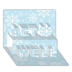 Frosty Get Well 3D Greeting Card (7x5)