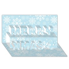 Frosty Merry Xmas 3d Greeting Card (8x4)