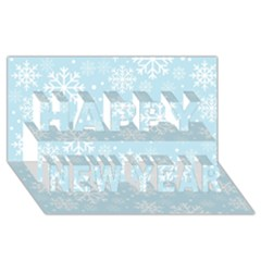 Frosty Happy New Year 3d Greeting Card (8x4)