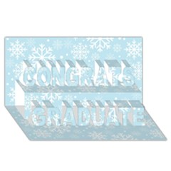 Frosty Congrats Graduate 3d Greeting Card (8x4)