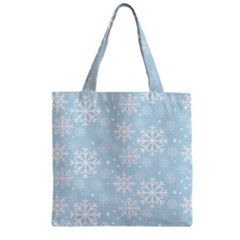 Frosty Zipper Grocery Tote Bags