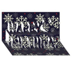 Snowflake Happy Birthday 3d Greeting Card (8x4)