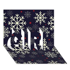 Snowflake GIRL 3D Greeting Card (7x5)