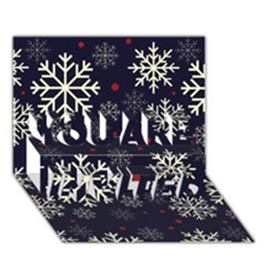 Snowflake YOU ARE INVITED 3D Greeting Card (7x5)