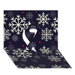 Snowflake Ribbon 3D Greeting Card (7x5)