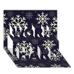 Snowflake WORK HARD 3D Greeting Card (7x5)
