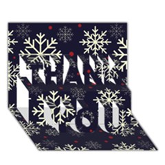 Snowflake THANK YOU 3D Greeting Card (7x5)