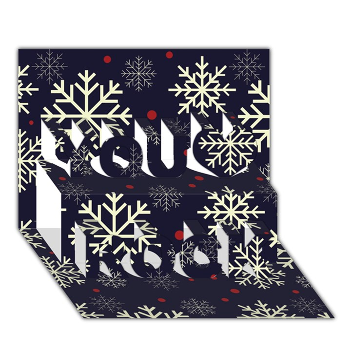 Snowflake You Rock 3D Greeting Card (7x5)