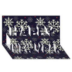 Snowflake Happy New Year 3D Greeting Card (8x4)