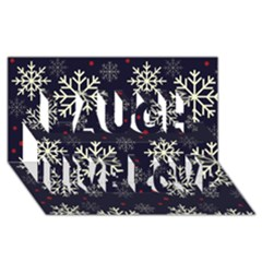 Snowflake Laugh Live Love 3D Greeting Card (8x4)