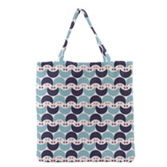 Moon Pattern Grocery Tote Bags