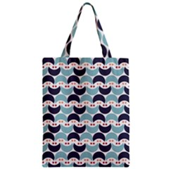 Moon Pattern Zipper Classic Tote Bags