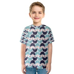Moon Pattern Kid s Sport Mesh Tees