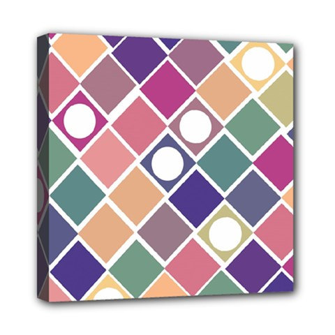 Dots and Squares Mini Canvas 8  x 8