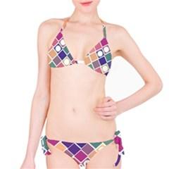 Dots and Squares Bikini Set