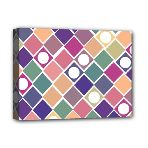 Dots and Squares Deluxe Canvas 16  x 12