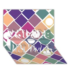 Dots And Squares You Are Invited 3d Greeting Card (7x5)