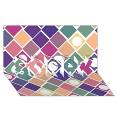 Dots and Squares SORRY 3D Greeting Card (8x4)