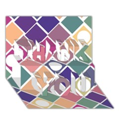 Dots and Squares THANK YOU 3D Greeting Card (7x5)