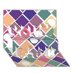 Dots and Squares You Rock 3D Greeting Card (7x5)