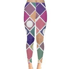 Dots and Squares Women s Leggings