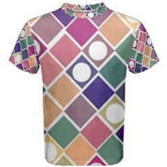 Dots And Squares Men s Cotton Tees