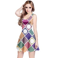 Dots and Squares Reversible Sleeveless Dresses