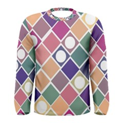 Dots and Squares Men s Long Sleeve T-shirts