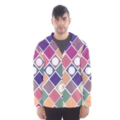 Dots And Squares Hooded Wind Breaker (men)