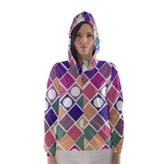 Dots and Squares Hooded Wind Breaker (Women)