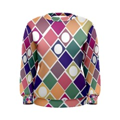 Dots and Squares Women s Sweatshirts