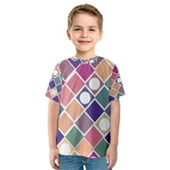 Dots and Squares Kid s Sport Mesh Tees