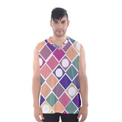 Dots and Squares Men s Basketball Tank Top