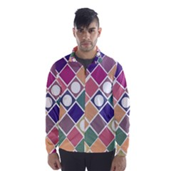 Dots And Squares Wind Breaker (men)