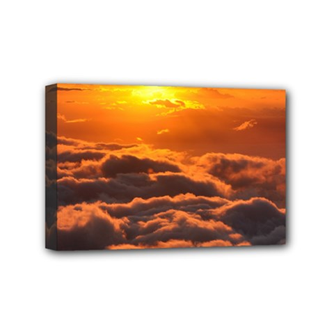SUNSET OVER CLOUDS Mini Canvas 6  x 4