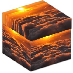 SUNSET OVER CLOUDS Storage Stool 12