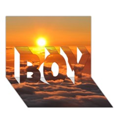 SUNSET OVER CLOUDS BOY 3D Greeting Card (7x5)
