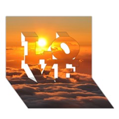 SUNSET OVER CLOUDS LOVE 3D Greeting Card (7x5)
