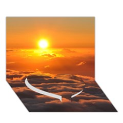 Sunset Over Clouds Heart Bottom 3d Greeting Card (7x5)
