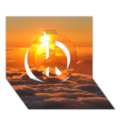SUNSET OVER CLOUDS Peace Sign 3D Greeting Card (7x5)