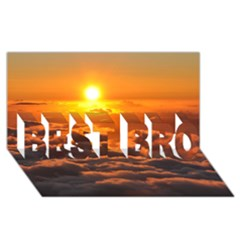SUNSET OVER CLOUDS BEST BRO 3D Greeting Card (8x4)