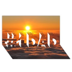 SUNSET OVER CLOUDS #1 DAD 3D Greeting Card (8x4)