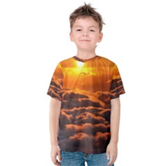Sunset Over Clouds Kid s Cotton Tee