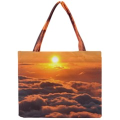 SUNSET OVER CLOUDS Tiny Tote Bags