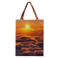 SUNSET OVER CLOUDS Classic Tote Bags