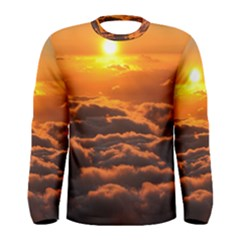 SUNSET OVER CLOUDS Men s Long Sleeve T-shirts